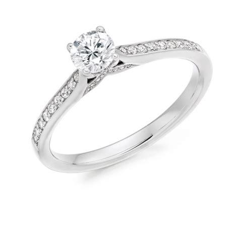 18 carat white gold round brilliant cut diamond solitaire