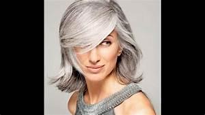 Coupe Courte Femme Cheveux Gris : les 30 coiffures tendances cheveux gris youtube ~ Melissatoandfro.com Idées de Décoration