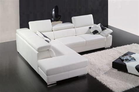 beau canapé d angle canapé d 39 angle en cuir italien 5 places helios blanc