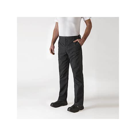 pantalon cuisine robur pantalon de cuisine à pince noir é robur