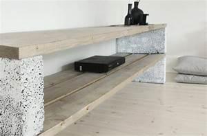 Hifi Regal Selber Bauen : betonbl cke f r tolle diy m bel freshouse ~ Bigdaddyawards.com Haus und Dekorationen