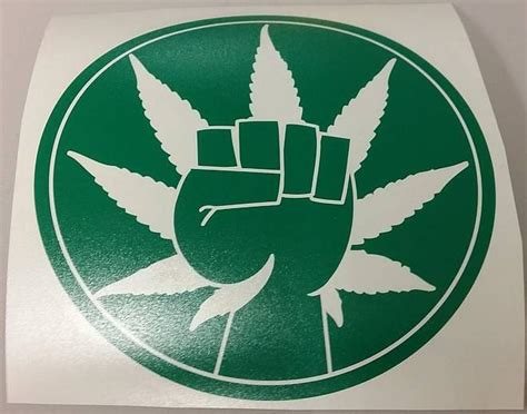 hemp activism cannabis marijuana weed fist die cut