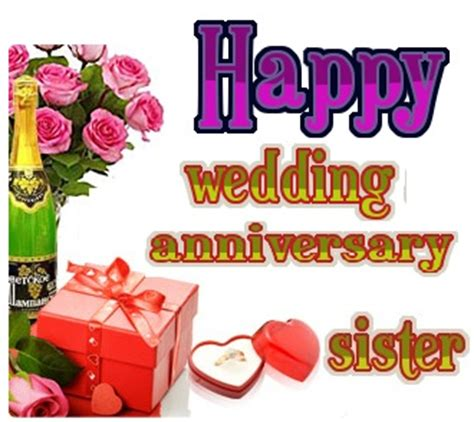 wedding anniversary wishes  sister