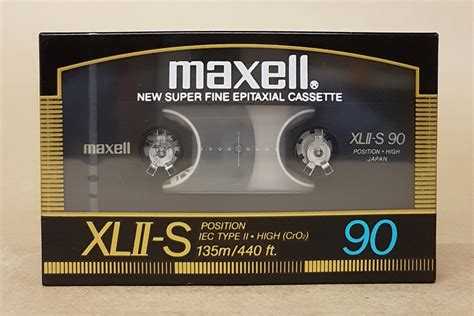 maxell cassette maxell xlii s 90 the best high bias cro2 blank audio