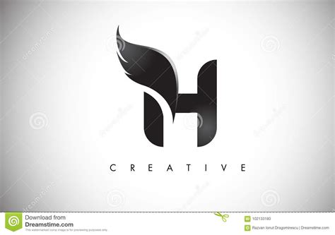 letter wings logo design  black bird fly wing icon