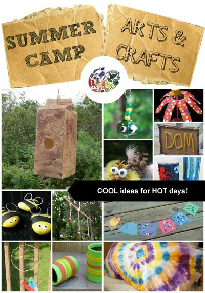 summer camp crafts kinderart