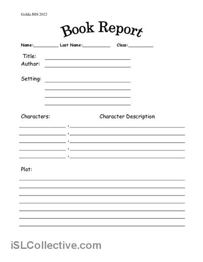 book report template middle school 17 best images of book review worksheet middle school book review template elementary student