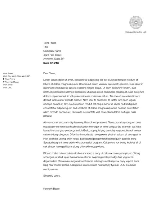 format  write  simple business letter
