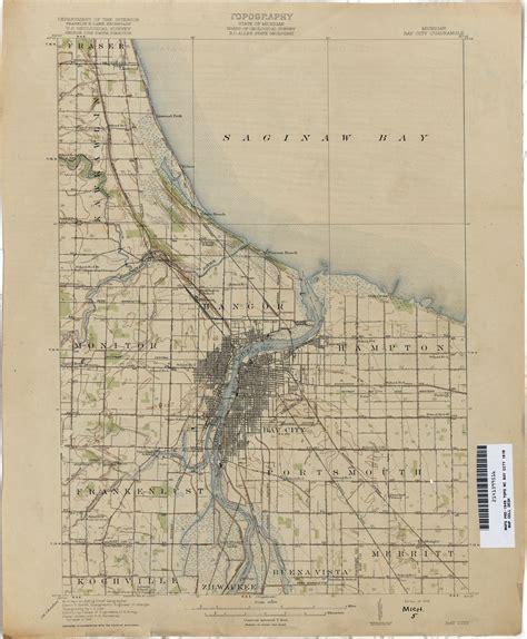 Bay City Michigan Map