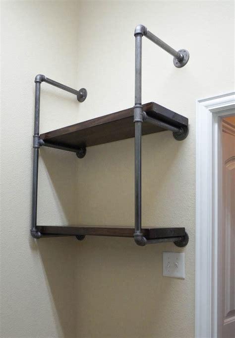 industrial pipe shelves tutorial  work great