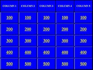 jeopardy powerpoint game template eskindriacom With jeopardy template ppt with sound