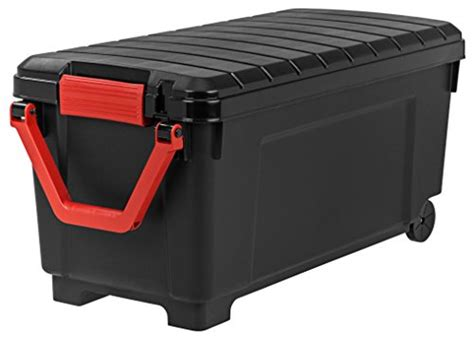 plastic tote with wheels remington heavy duty rolling