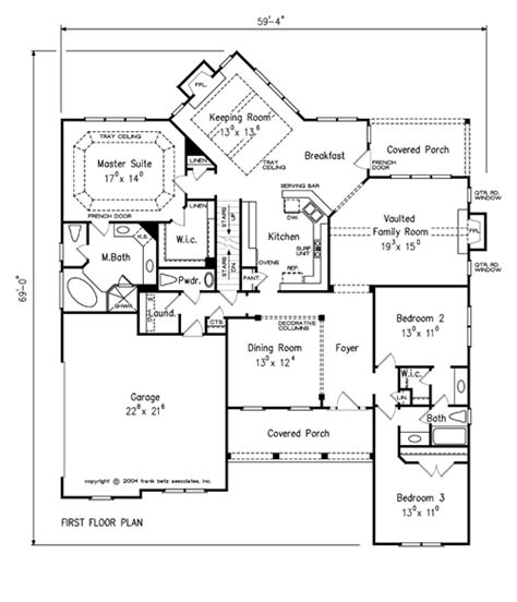walnut grove house floor plan frank betz associates