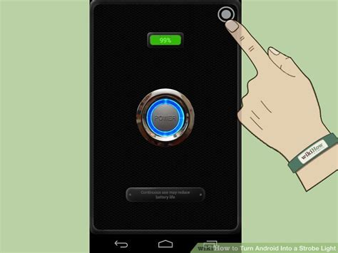 turn on phone light how to turn android into a strobe light 5 steps with