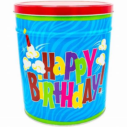 Birthday Happy Popcorn Tin Gallon Tins Gal
