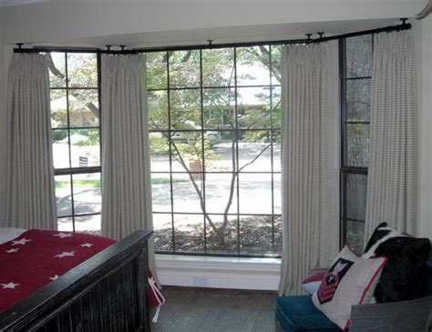 curtain rods for bay windows affordable orielwrap