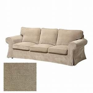 ikea ektorp 3 seat sofa slipcover cover vellinge beige With ikea sofa cover