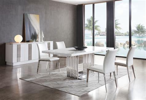 modrest kingsley modern marble stainless steel dining table