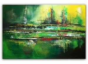 Moderne Kunst Leinwand : bild gr n acrylmalerei struktur kreis von alex b bei kunstnet ~ Sanjose-hotels-ca.com Haus und Dekorationen