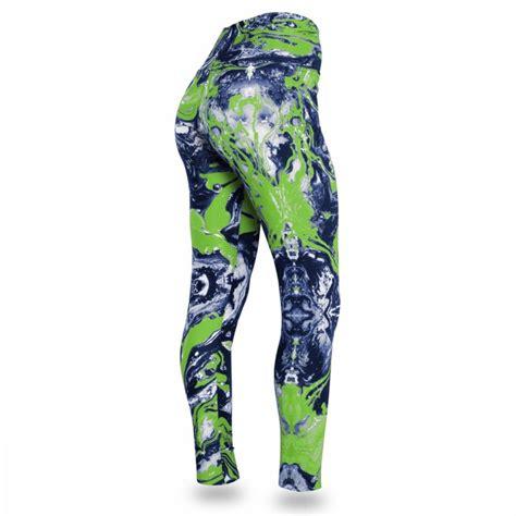 seattle seahawks swirl legging navyneon green zubaz store