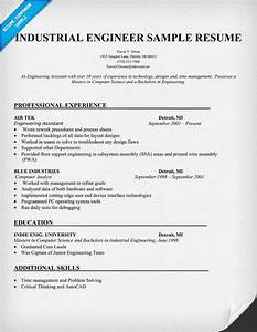 Industrial Engineer Sample Resume resume panion