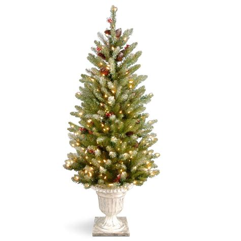 dunhill christmas tress home depot fir christimas trees national tree company 4 ft dunhill fir entrance artificial tree with clear lights duf