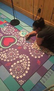 Painted wooden lanai floor | Painted patio, Patio flooring ...