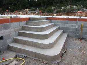construire un escalier en beton de type pyramidal youtube With modele escalier exterieur terrasse 14 escalier escamotable