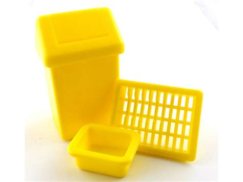 Swing Bin, Dish Rack & Washing Up Bowl Kitchen Set Yellow