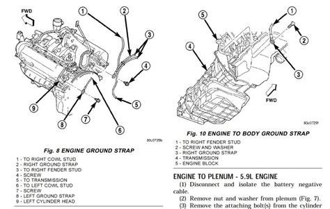 2008 5 7l Hemi Engine Diagram by 03 Durango 4 7l Engine Ground Locations With Regard To