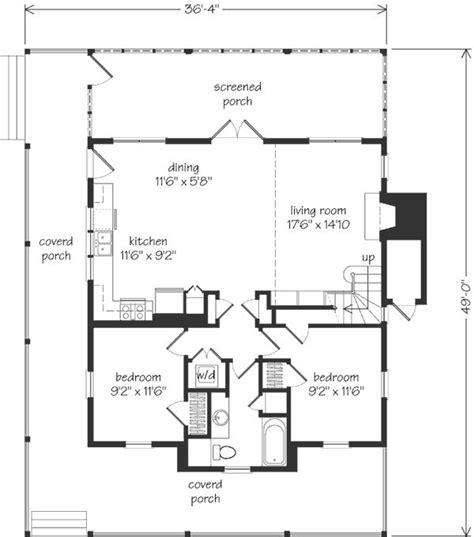 nautical cottage main floor  sq ft upper floor