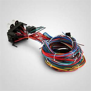 Rod 12 Circuit Street Rod Wiring Harness Standard Panel