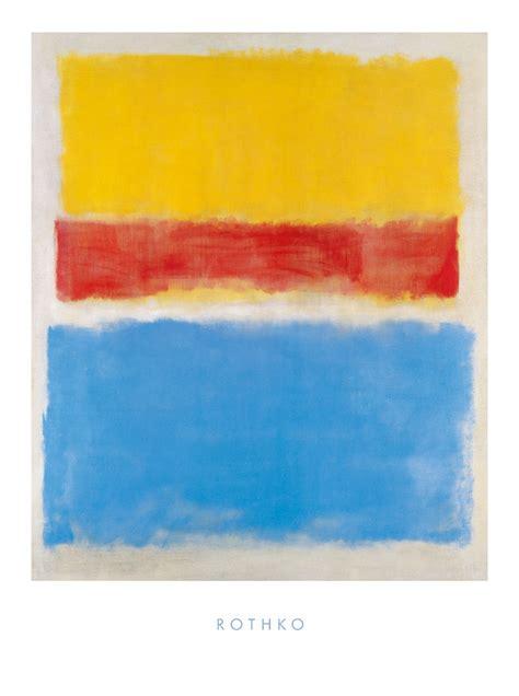 mark rothko untitled yellow red  blue poster kunstdruck
