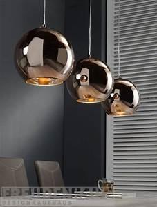 Pendelleuchte Kugel Kupfer : lampe 3 kugeln glas pendelleuchte modern ~ A.2002-acura-tl-radio.info Haus und Dekorationen