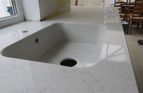 quartz kitchen countertop  integrity sink
