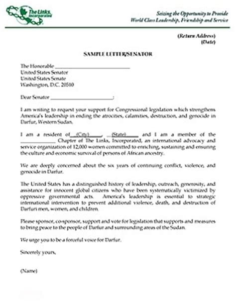 how to write a letter to a congressman sle letter to senator the best letter sle