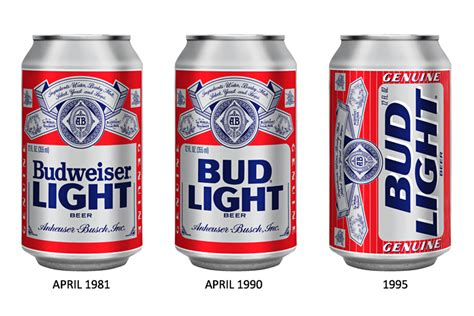 bud light can sizes before after bud light the dieline packaging
