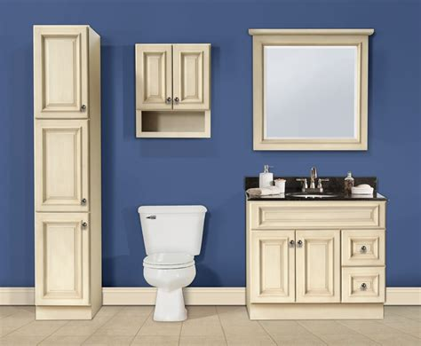 Bathroom Cabinets : Rta Bathroom Vanities-canterbury (antique White) Series