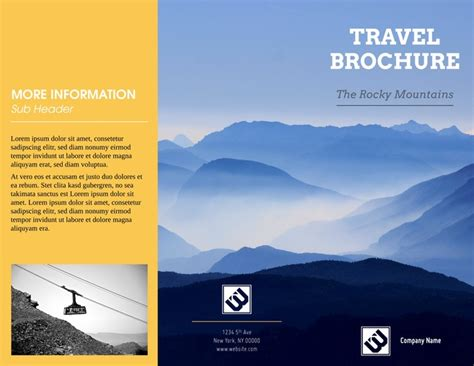 sample travel brochure template csoforuminfo