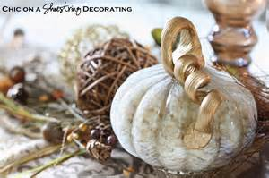 Metal Pumpkin Carriage Centerpiece by Chic On A Shoestring Decorating Fall Centerpiece And Pier