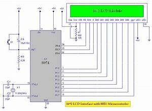8051 Microcontroller  About 16 2 Lcd Module