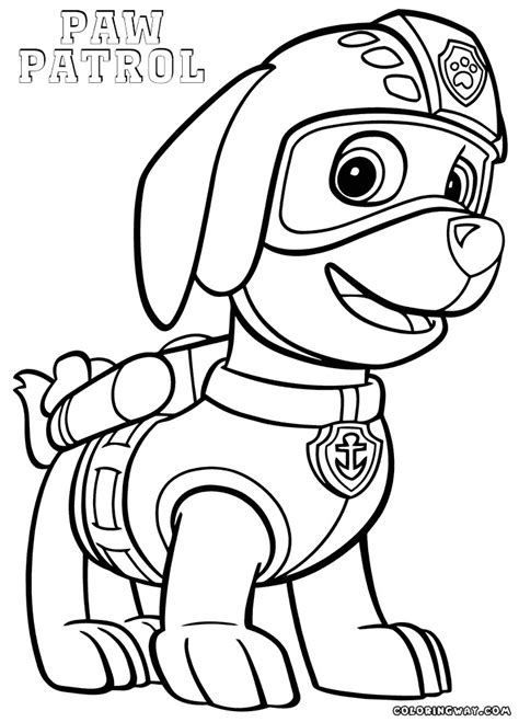 rocky paw patrol coloring pages  getcoloringscom