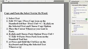 How To Do Copy And Paste In Microsoft Word