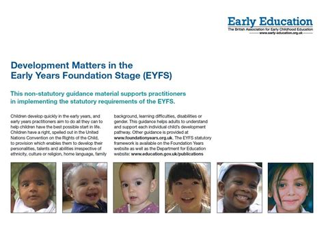 development matters   early years foundation stage
