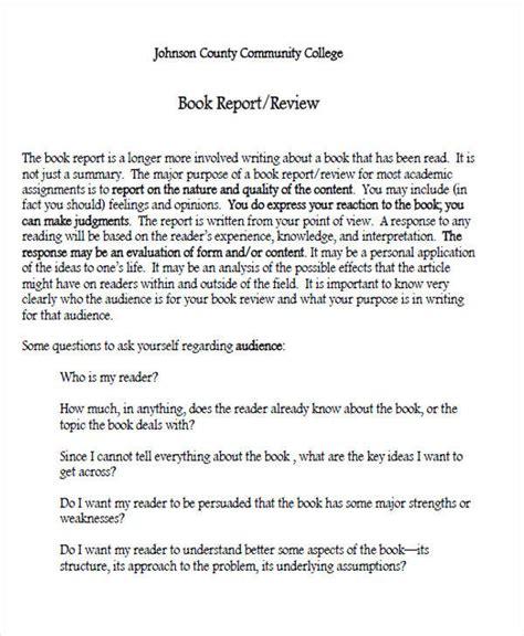 sample book report templates  ms word google