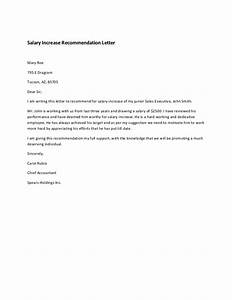 Salary Increase Remendation Letter