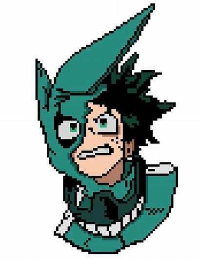 Pixel Academia Hero Midoriya Izuku Minecraft Grid