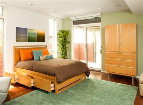 chambre avec rangement lit avec rangement idée créative pour les petits espaces