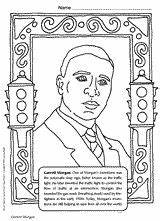 Morgan Garrett Coloring African American History Pages Inventors Month Americans Inventor Teachervision Printable Famous Sheets Activities Grade Printables Jackie Robinson sketch template