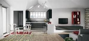 Cucine soggiorno tra cucina e living cucine moderne for Cucina e salotto